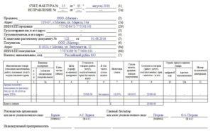 На основании какого документа выставляется счет фактура по услугам