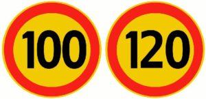 Знак на желтом фоне ограничение скорости