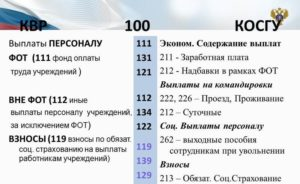Проезд в командировке косгу и квр 2019