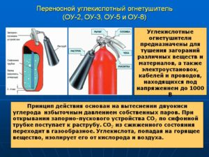 Срок годности углекислотного огнетушителя оу 2