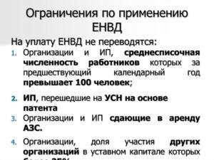 Енвд ограничения по выручке 2019
