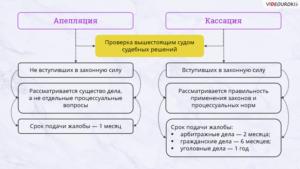 Кассационный суд и апелляционный суд отличия