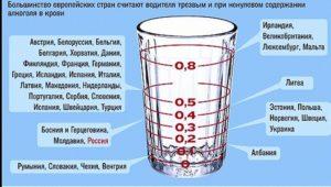 Минимальная доза алкоголя в крови водителя беларусь