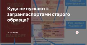 В какие страны не пустят с загранпаспортом старого образца 2019